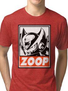 Zero Zoop Obey Design Tri-blend T-Shirt