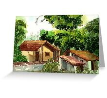My village my country Greeting Card