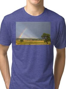 Beautiful Contryside Rainbow Tri-blend T-Shirt