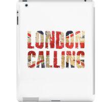 London Calling The Clash Punk Song Lyrics iPad Case/Skin