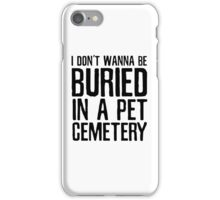 The Ramones Pet Cemetary Punk Rock Lyrics iPhone Case/Skin
