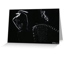 The Intensity of Flamenco Greeting Card