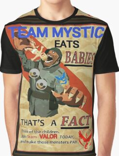 Team Mystic & Valor eat babies Propaganda military commando meme Graphic T-Shirt