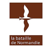 """""""The Battle of Normandy"""", Road Sign, France Photographic Print"""