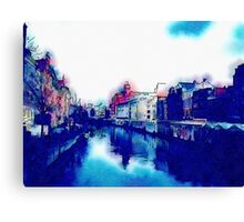 Watercolor Waterway Canvas Print