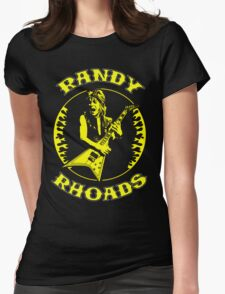 Randy Rhoads (Flames) Colour Womens Fitted T-Shirt