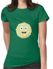 Moon face   Womens Fitted T-Shirt