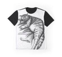 Fat Cat Sleeping Graphic T-Shirt