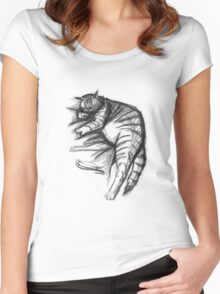 Fat Cat Sleeping Women's Fitted Scoop T-Shirt