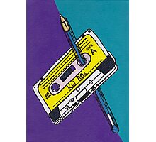 Kid 80s - Cassette Tape Rewind with Pen Photographic Print