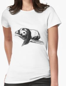 Bear Lying On A Tree Womens Fitted T-Shirt