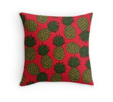 Pineapple - Red Throw Pillow