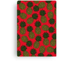 Pineapple - Red Canvas Print