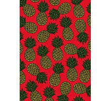 Pineapple - Red Photographic Print