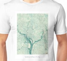 Washington Map Blue Vintage Unisex T-Shirt