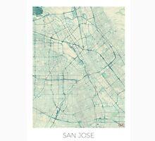 San Jose Map Blue Vintage Unisex T-Shirt
