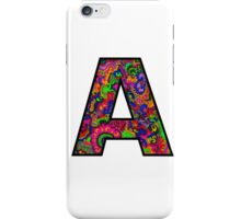 Letter A Doodle iPhone Case/Skin