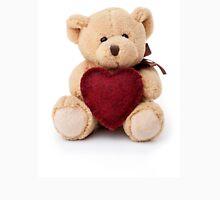Teddy bear holding red heart Unisex T-Shirt