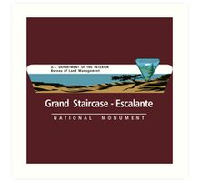 Grand Staircase-Escalante National Monument Sign, Utah Art Print