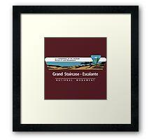 Grand Staircase-Escalante National Monument Sign, Utah Framed Print