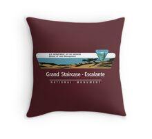 Grand Staircase-Escalante National Monument Sign, Utah Throw Pillow