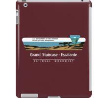 Grand Staircase-Escalante National Monument Sign, Utah iPad Case/Skin
