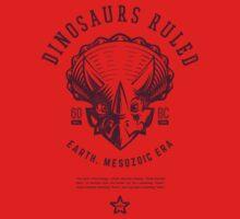 Dinosaurs Ruled [Burgundy Mono] One Piece - Short Sleeve