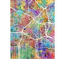 Los Angeles City Street Map Photographic Print