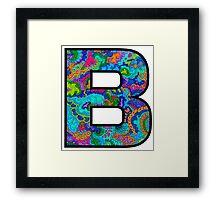 Letter B Doodle Framed Print