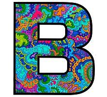 Letter B Doodle Photographic Print