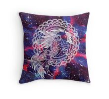 Galaxy Themed Paisley Horse Throw Pillow