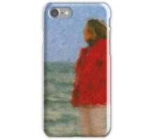 The Red Jacket and the Sea iPhone Case/Skin