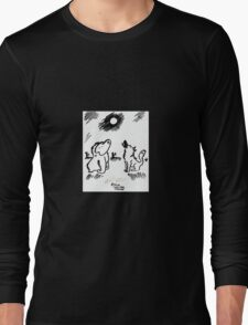 Ape and Wolf Howl at Moon Long Sleeve T-Shirt