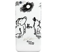 Ape and Wolf Howl at Moon iPhone Case/Skin