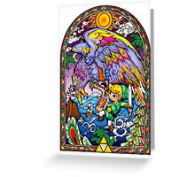 Vitral The Wind Waker Greeting Card