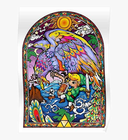 Vitral The Wind Waker Poster