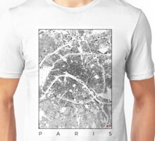 Paris Map Schwarzplan Only Buildings Urban Plan Unisex T-Shirt