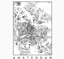 Amsterdam Map Schwarzplan Only Buildings Urban Plan Unisex T-Shirt