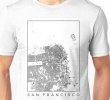 San Francisco Map Schwarzplan Only Buildings Urban Plan Unisex T-Shirt