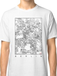 Berlin Map Schwarzplan Only Buildings Urban Plan Classic T-Shirt