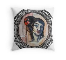 Spiderlady Throw Pillow