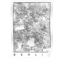 Berlin Map Schwarzplan Only Buildings Urban Plan Poster