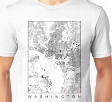 Washington Map Schwarzplan Only Buildings Urban Plan Unisex T-Shirt