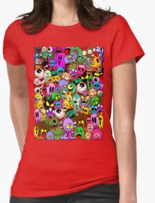 Monsters Doodles Characters Saga Womens Fitted T-Shirt