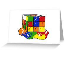 melting rubix cube  Greeting Card