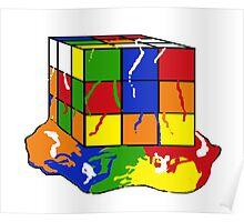 melting rubix cube  Poster
