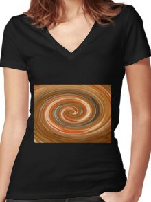 Spirals of Amber Women's Fitted V-Neck T-Shirt