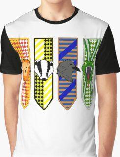 Hogwarts House Mascot Banners Graphic T-Shirt