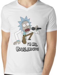 Rick and Morty – I'm Mr. Bulldops Mens V-Neck T-Shirt
