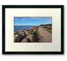 Rockbound pathway Framed Print
